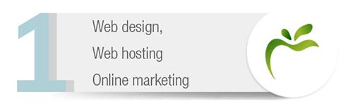 Web design, Web hosting, Online marketing